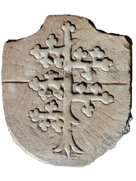 Stone coat of arms - Spino Fiorito Malaspina