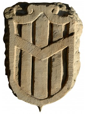 Stone italian coat of arms