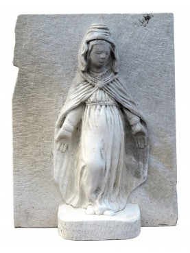 Misercordia Madonna in white Carrara marble