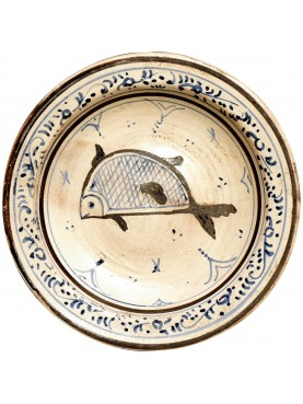 Copy of an ancient medieval Tuscan dish - fish from San Jacopo in Metato (Pisa)