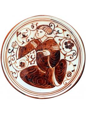 Bacini ceramici medioevali pisani - copia di piatto Ispano Moresco Medioevale
