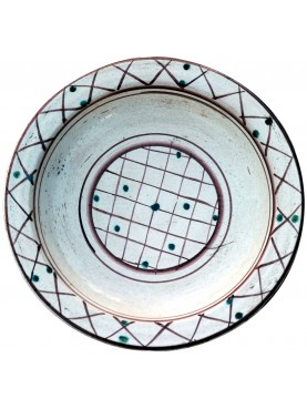 Copy of an ancient medieval Tuscan dish - majolica medieval plates from Pisa