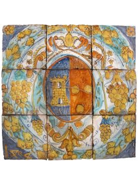 Pannello maiolicato di Lucca Sicula