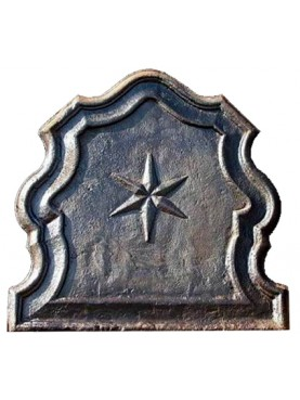 Fireback six-pointed star castiron