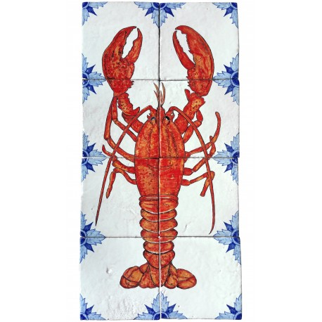Lobster hung to the wall