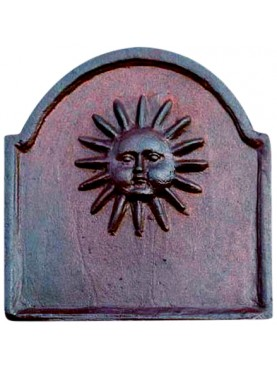 Fireback with sun L 48 cm.