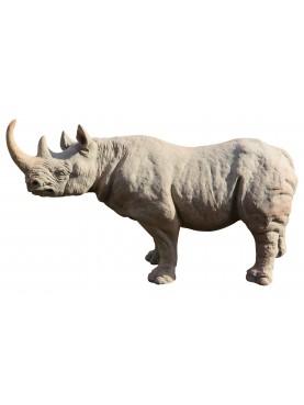 Small african terracotta rhinoceros
