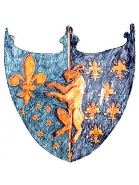 Stemma maiolicato confraternita dei macellai Firenze