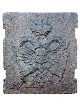 Lastra di camino antica - aquila asburgica