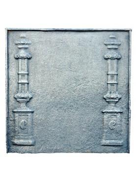 Lastra camino con due pilastri impero antica