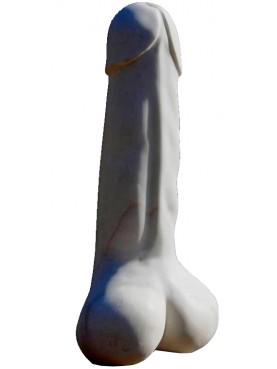 Grande Fallo in marmo bianco Statuario
