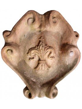 Terracotta Coat of arms - Florence lily