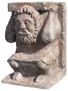 Red Verona marble base H.40cms/24x26cms