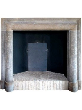 Limestone Fireplace Frame with high hooves