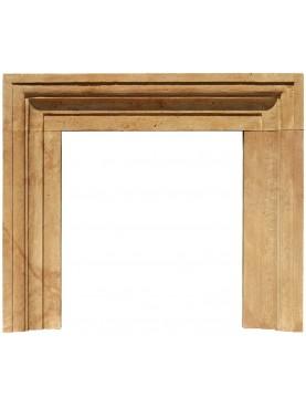 Ochre limestone Armani fireplace frame Salvator Rosa