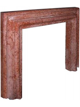 Salvator Rosa fireplace in red verona marble -fireplace frame