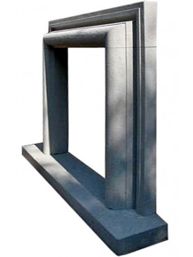 Salvator Rosa fireplace frame in pietra serena stone