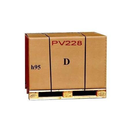 Imballaggio scatola di cartone e pallet 120x80xh95 cm