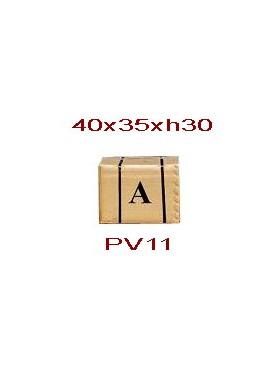 Imballaggio scatola di cartone e pallet 40x35xh30 cm