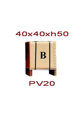 Imballaggio scatola di cartone e pallet 40x40xh50 cm
