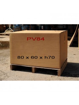 Carton + pallet 80 x 61 x h70 cm