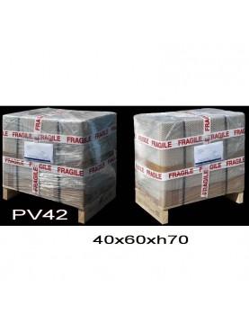 Carton + pallet 40x60xh70 cm