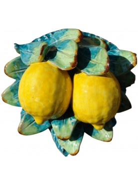 Lemons with leafs and flowers