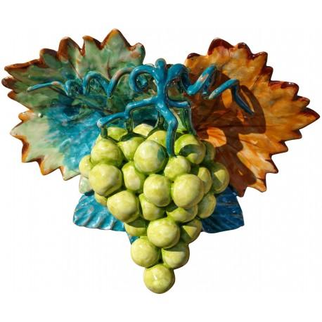 Uva bianca con pampane e viticci