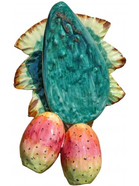 Hand majolica prickly pear with hole
