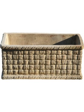 basket cassette in terracotta