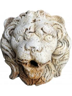 Mascherone leone romano in travertino