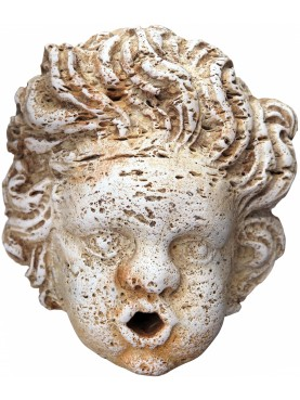 Roman Child mask for fountain