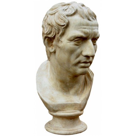 Plinio - roman statue - patinated plaster cast