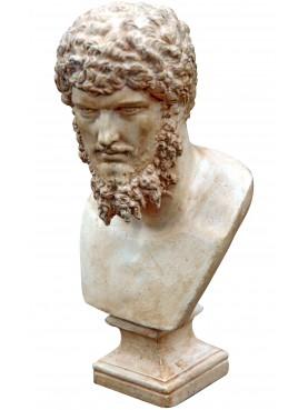 Lucio Vero roman emperor - small plastercast bust with patina