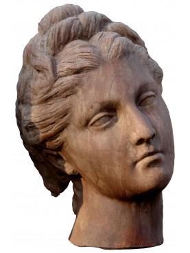 testa di donna romana anonima patinata