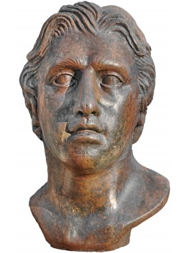 Alessandro Magno testa in terracotta