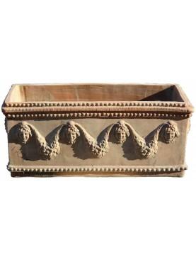 Cassonetti Festonati in terracotta grande Napoletani