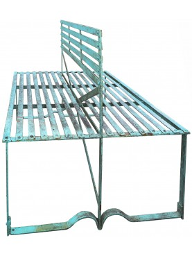 Panchina in ferro battuto a due sedute