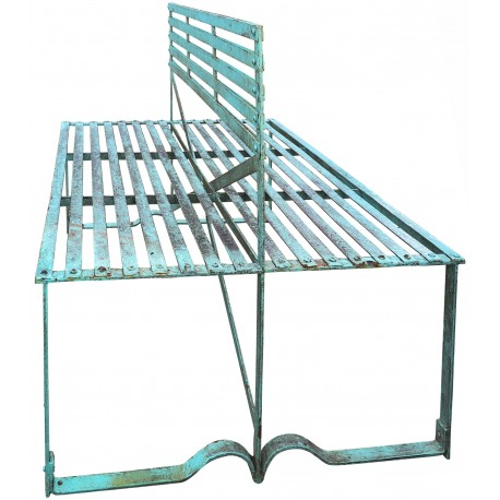 Two side wrought-iron bench