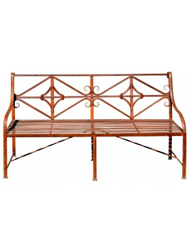 Garden Bench - wrought iron Divan with and without weels