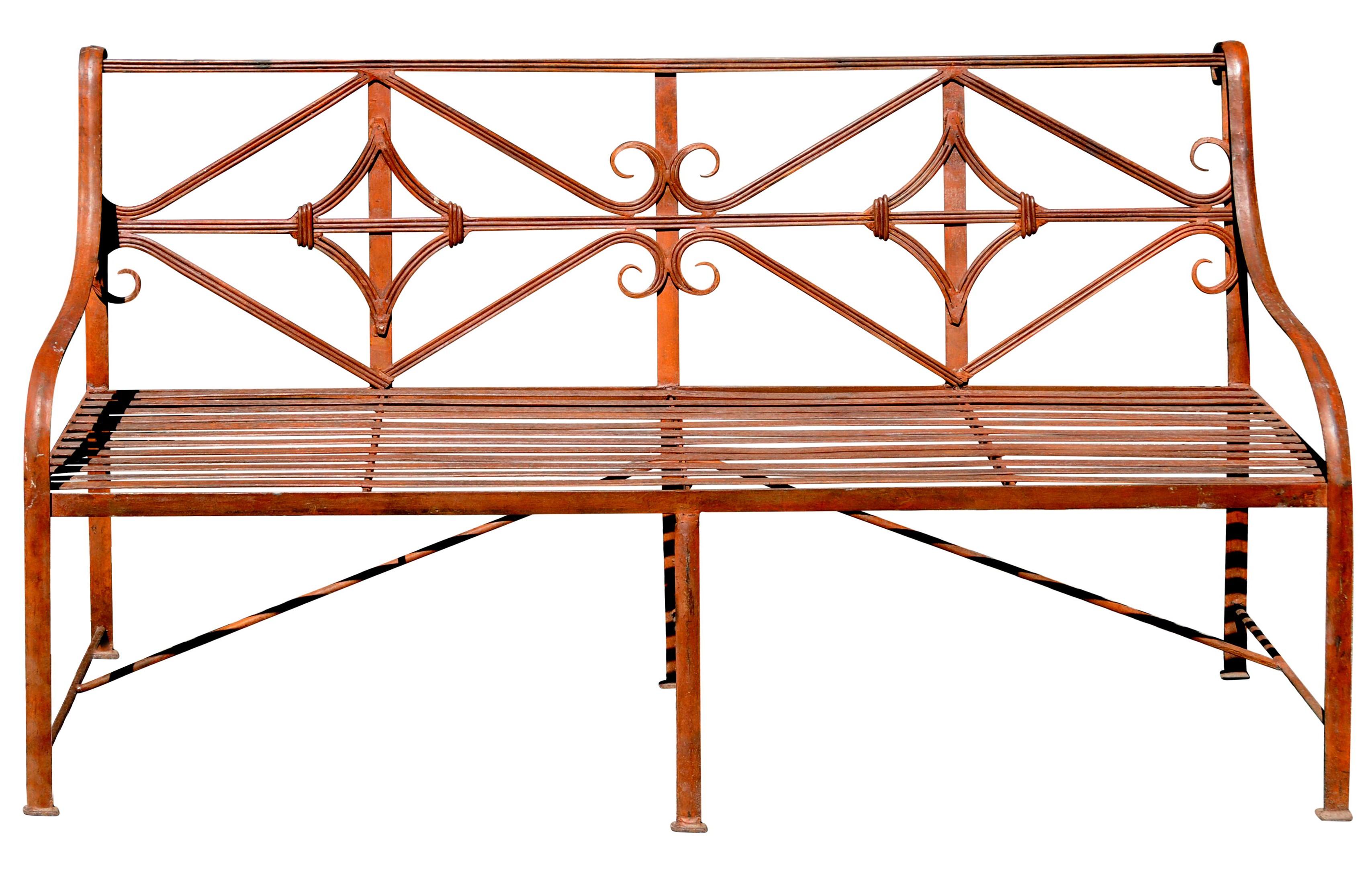 metal bench wrought mexico benches iron garden