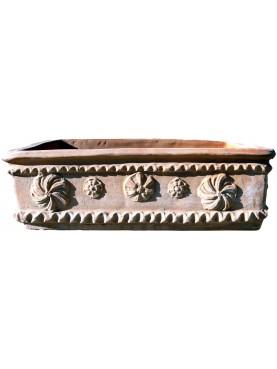 Cassetta lucchese in terracotta