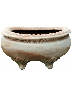 Terracotta pot with legs