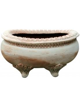 Terracotta pot with legs