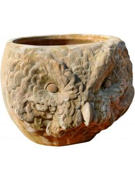 Terracotta Owl cachepot
