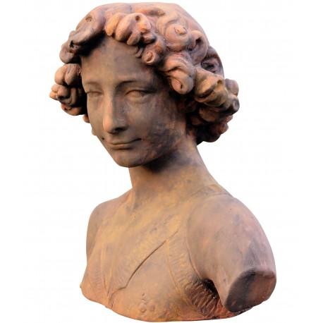 Testa in terracotta del David del Verrocchio - probabile ritratto di Leonardo