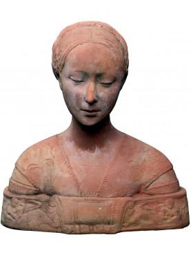 Busto di giovane donna - Ippolita Maria Sforza - Principessa medioevale