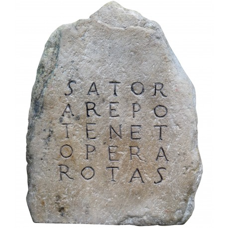 Our SATOR hand made in stone