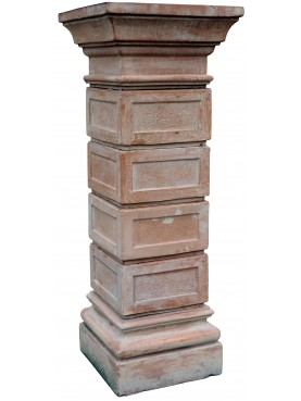 Colonne quadre componibili da cancello in terracotta