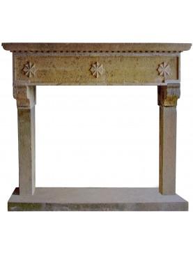 Fireplace in Peperino Stone